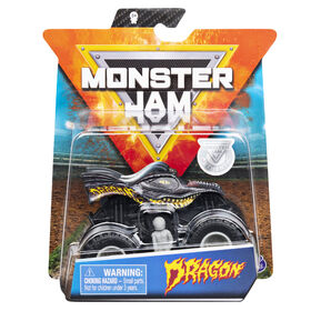 Monster Jam, Official Dragon Monster Truck, Die-Cast Vehicle, Over Cast Series, 1:64 Scale