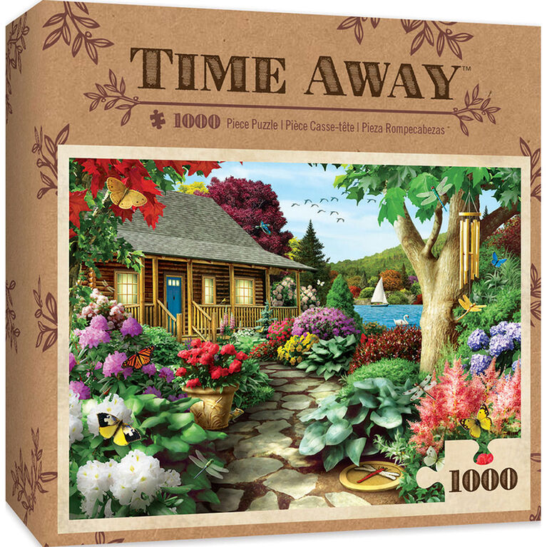 Time Away Dragonfly Garden - 1000 Piece Jigsaw Puzzle By Alan Giana - English Edition