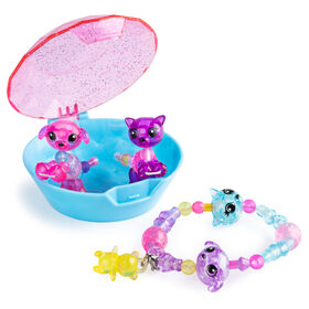 Twisty Petz, Series 3 Babies 4-Pack, Puppies and Kitties Collectible Bracelet Set and Case