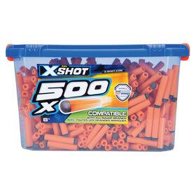 500fléchettes en mousse X-Shot Excel