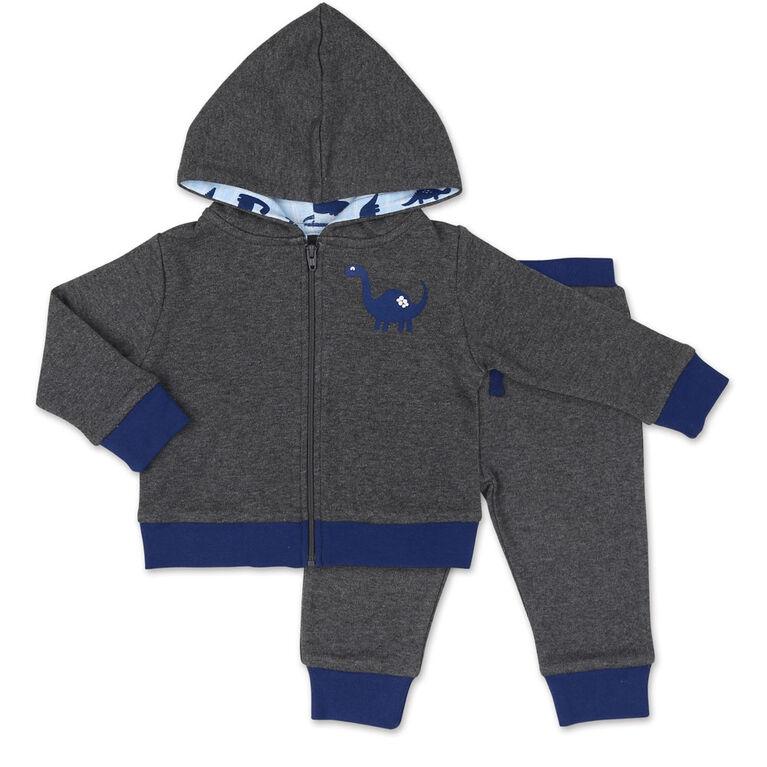 Ensemble veste pour garçon Koala Baby Dinomite avec capuche et pantalon - 6-9 Mois