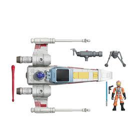 Star Wars Mission Fleet Stellar Class Luke Skywalker X-wing Fighter 2.5-Inch-Scale Figure and Vehicle