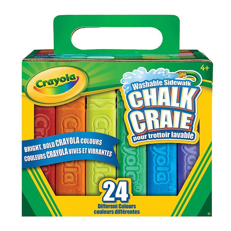 Crayola Washable Sidewalk Chalk, 24 Ct