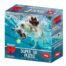 Underwater Dogs Duchess 150 Piece Super 3D Puzzle