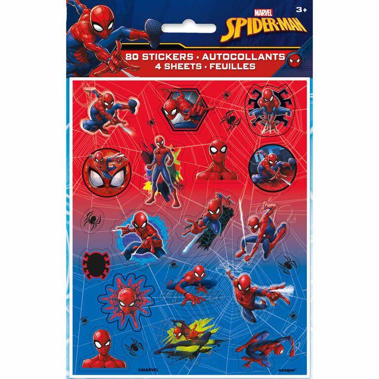 Spider-Man Feuilles d'autocollants, 4un