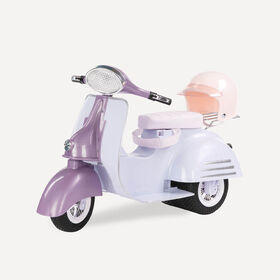Our Generation, Ride In Style Scooter for 18-inch Dolls - Purple & Blue