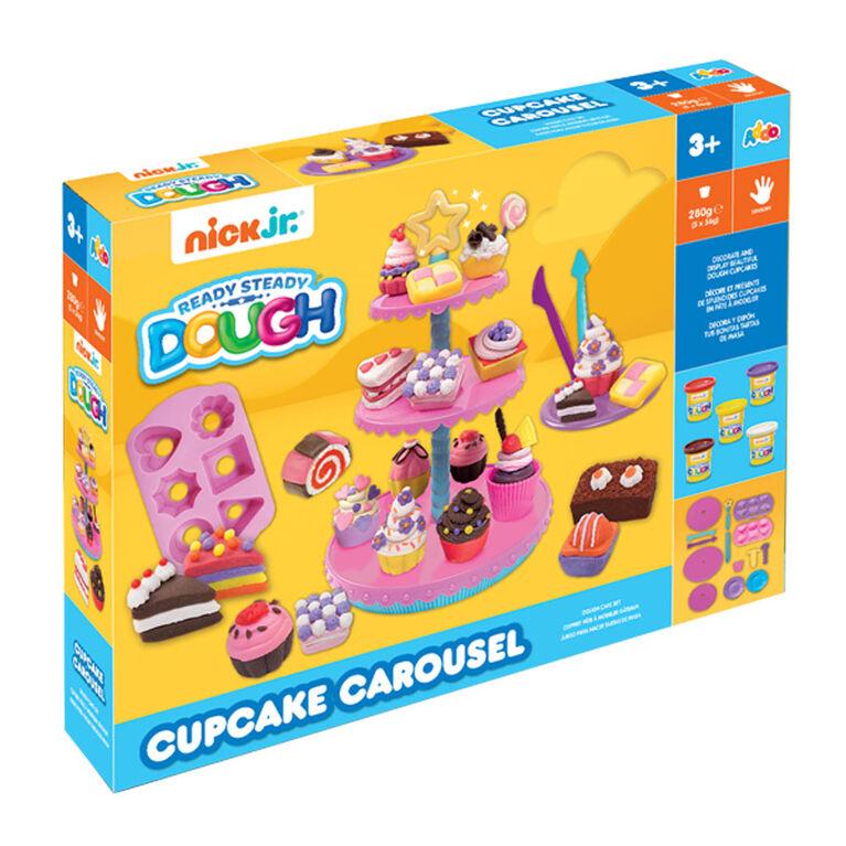 Coffret Ready Steady Dough Cupcake Carousel de Nick Jr - Notre exclusivité
