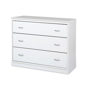 Mobby 3-Drawer Chest- Pure White