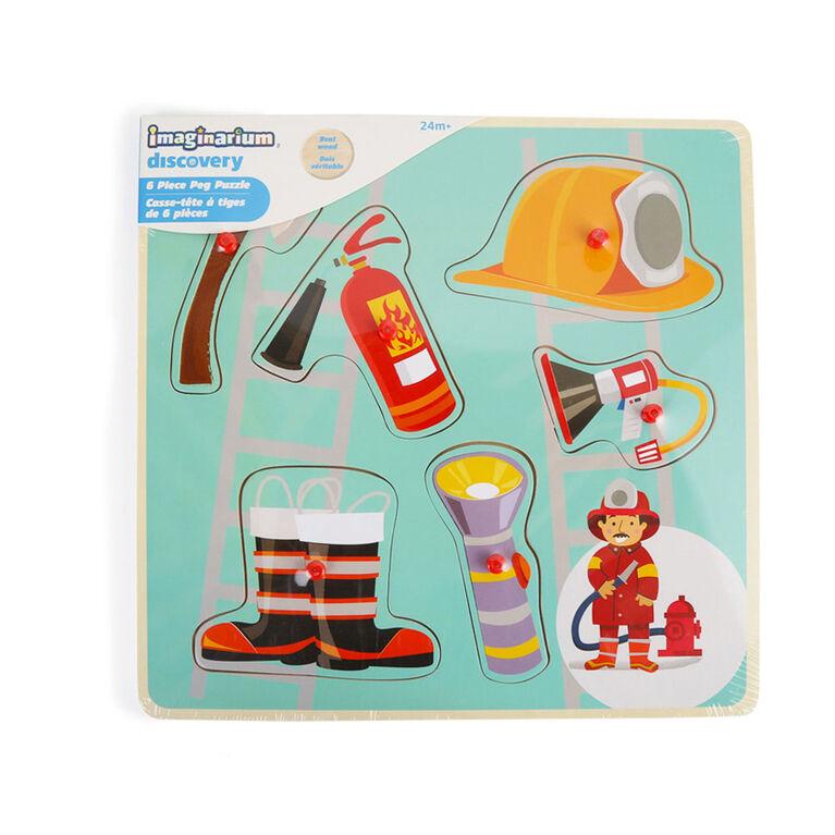 Imaginarium Discovery - Casse-tête à tiges de 6 pièces - Pompier