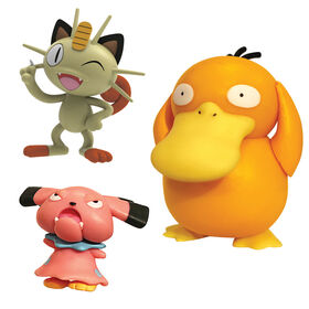 Pokémon Battle Figure Set 3-Pack - Meowth & Snubbull vs Psyduck