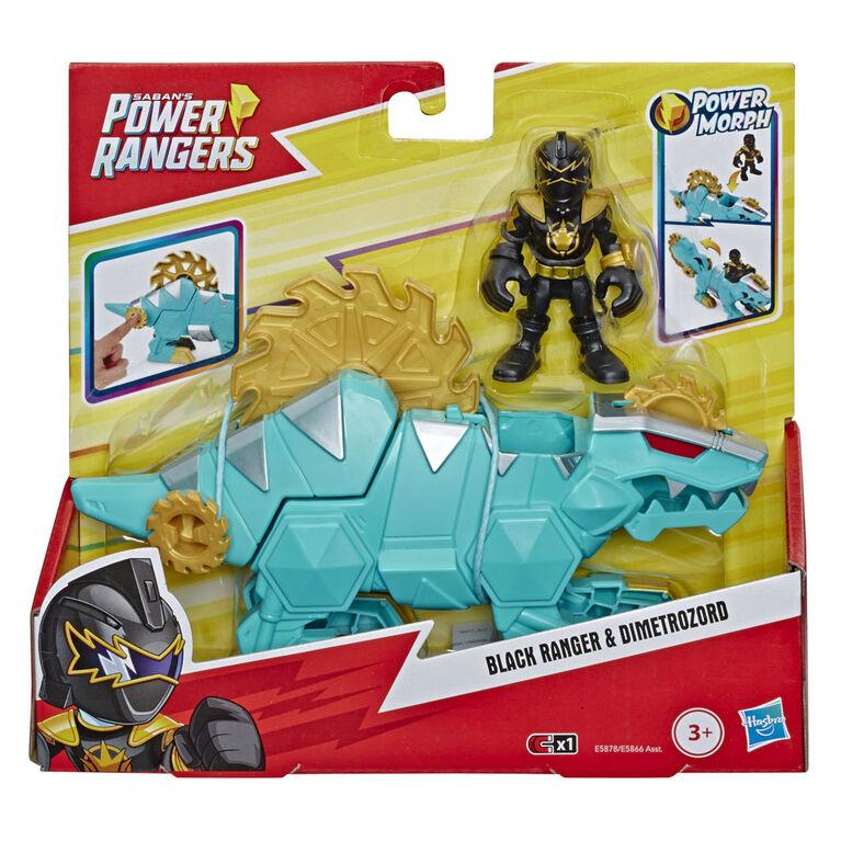 Playskool Heroes Power Rangers Black Ranger and Dimetrozord 2-pack