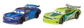"""Spikey Fillups et Chase Racelott du film """"Les Bagnoles"""" de Disney/Pixar, coffret de 2, véhicules jouets"""