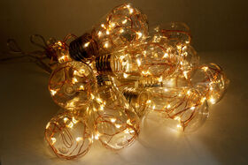 Sharper Image Copper Wire Edison Bulb String Lights