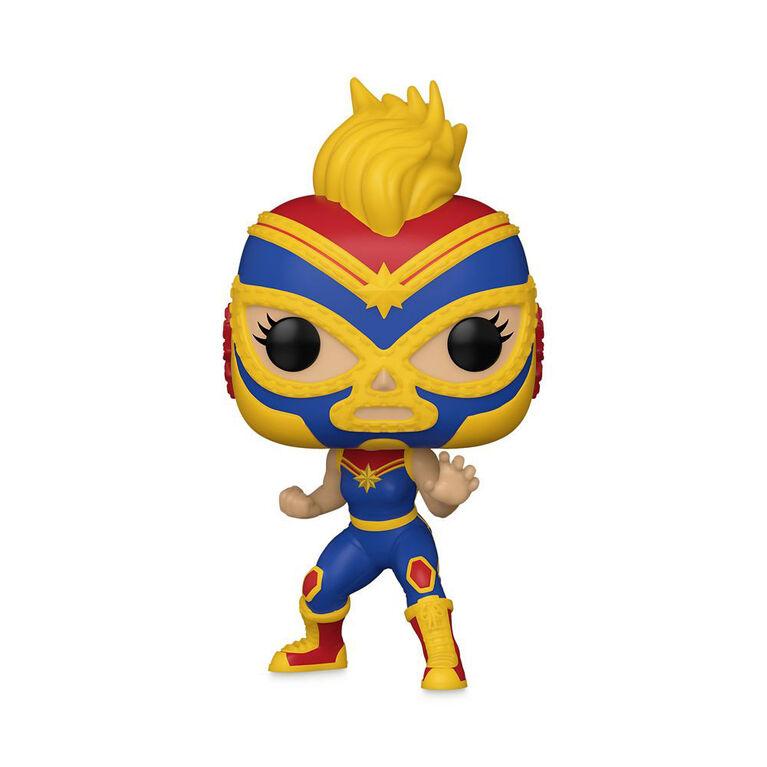 Captain Marvel La Estrella Cósmica Funko Pop! Figurine a tête oscillante– Marvel Lucha Libre Edition
