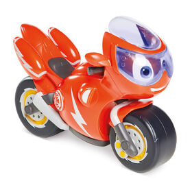 Ricky Zoom Lights & Sounds Ricky - Large 7 Inch Toy Motorcycle with 8 Sounds & Phrases Plus a Light Up Rescue Visor for Preschool Play - R Exclusive