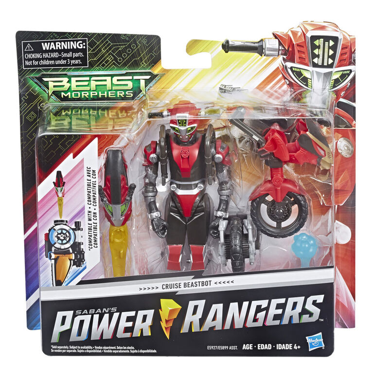 Power Rangers Beast Morphers - Figurine de 15 cm Cruise Beastbot.