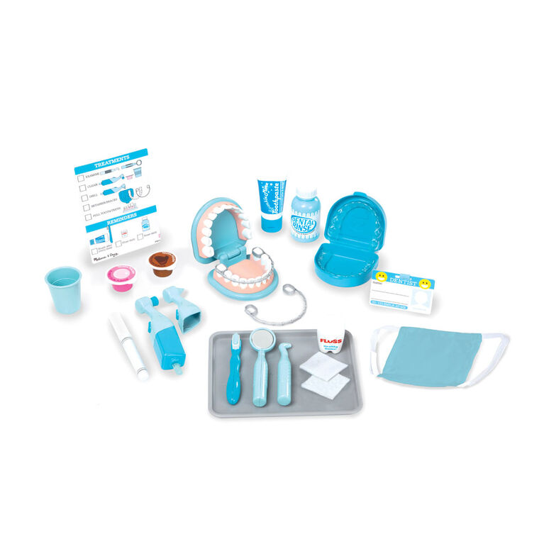 Melissa & Doug - Super Smile Dentist Kit With Pretend Play Set of Teeth And Dental Accessories (26 Toy Pieces) - English Edition