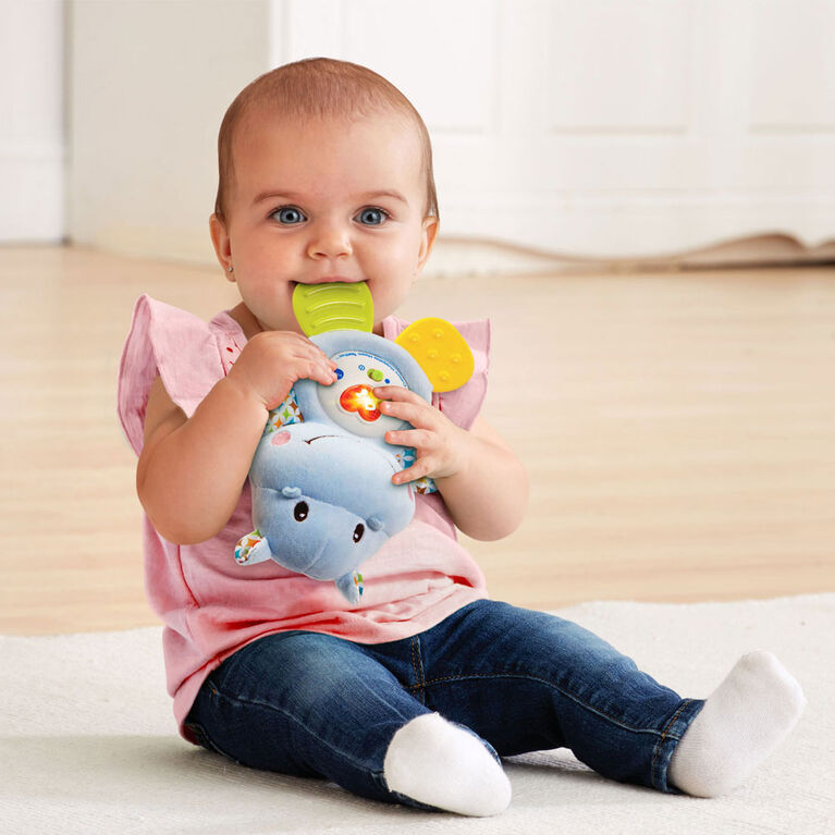 Lil' Critters Huggable Hippo Teether - English Edition