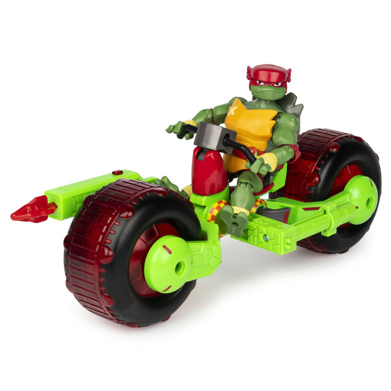 Rise of the Teenage Mutant Ninja Turtles – Shell Hog Motorcycle Vehicle with Raphael Action Figure