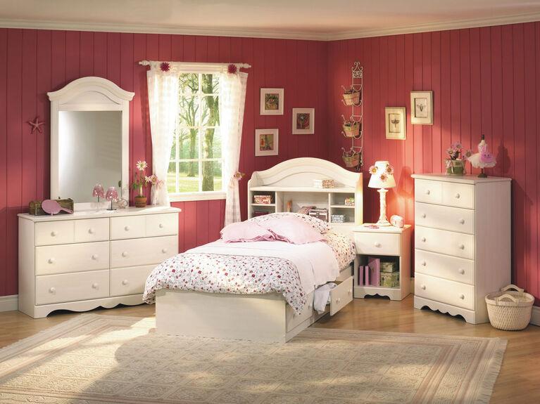 Summer Breeze 5-Drawer Chest Dresser- White Wash
