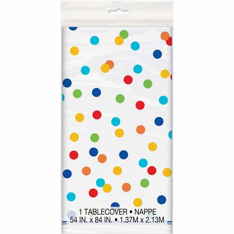"Rainbow Polka Dots TableCover 54""x84"""