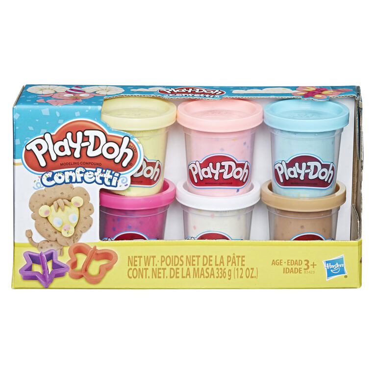 Play-Doh Confetti Collection with 6 Non-Toxic Colors