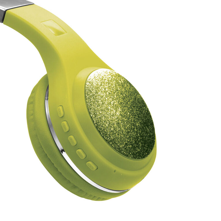 LimitedToo Glitterbomb Wireless Headband Earphones - Lime