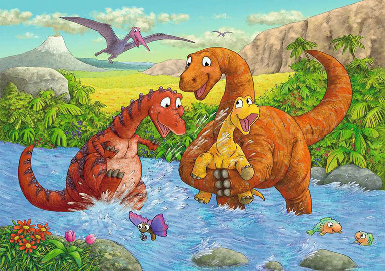 Ravensburger - Dinosaurs at Play Puzzle 2 x 24pc