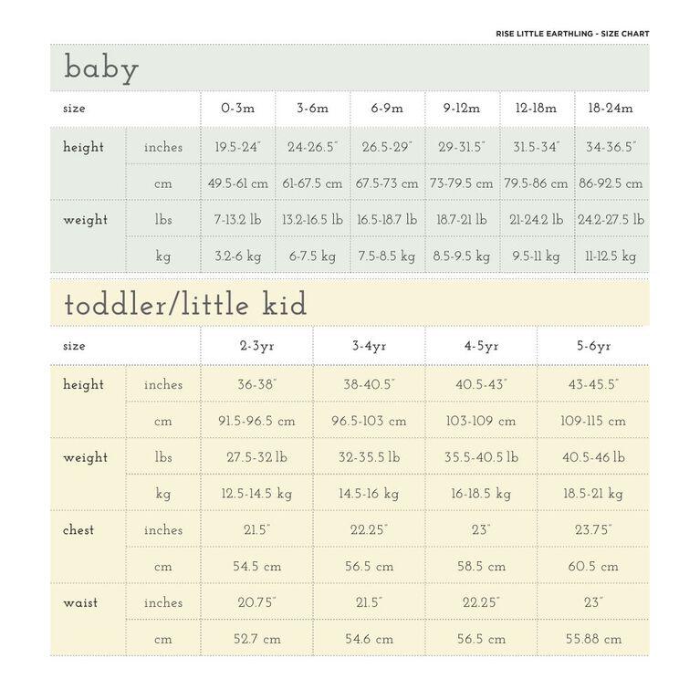12-18m legging en coton biologique - rayures bambou