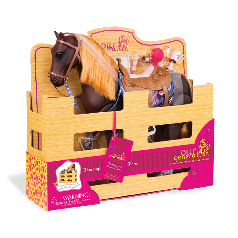 Our Generation, Posable Thoroughbred Horse, 20-inch Posable Horse