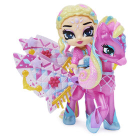 Hatchimals Pixies Riders, Wilder Wings Chic Claire Pixie and Zebrush Glider with 16 Wing Accessories
