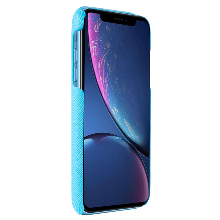 Blu Element Étui Saffiano Blue pour iPhone XR