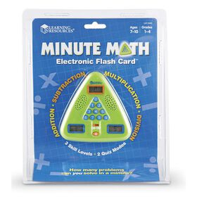 Learning Resources - Minute Math Electronic Flash Card - English Edition