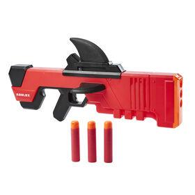 Nerf Roblox MM2, blaster à fléchettes Shark Seeker, amorçage par aileron, 3 fléchettes Nerf Mega