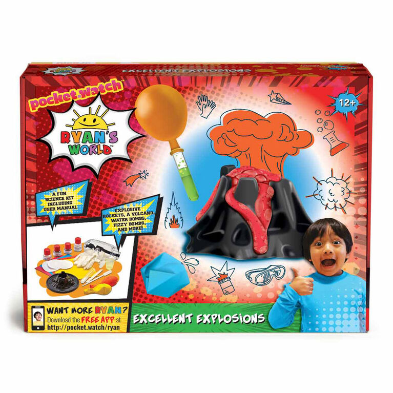 Ryan's World Excellent Explosions Science Kit - R Exclusive - English Edition