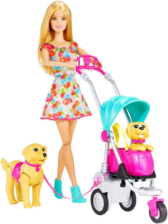 Barbie - Balade avec les chiens. - Notre Exclusivité