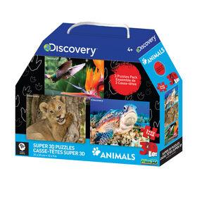 Discovery - Dinosaurs 48-63 pièces Casse-tête Super 3D.