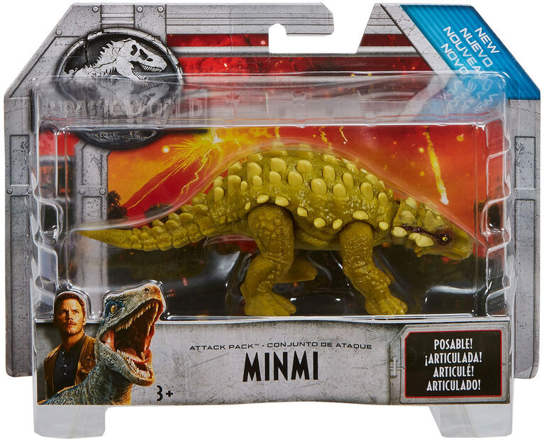 Jurassic World Attack Pack Minmi Figure