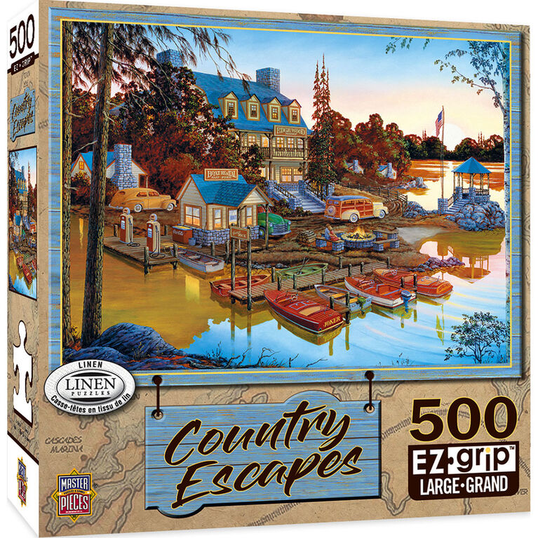 Country Escapes 550 Piece Linen Jigsaw Puzzle