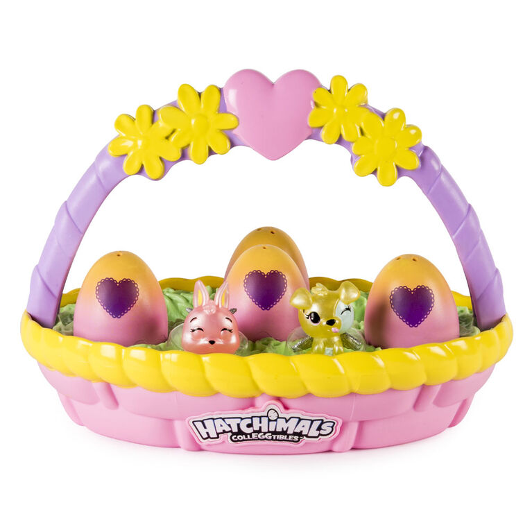Hatchimals CollEGGtibles - Spring Basket with 6 Hatchimals CollEGGtibles