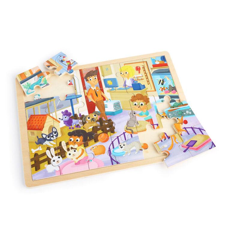 Imaginarium Discovery - Wooden Jigsaw Puzzle Assortment - Pet's Shop