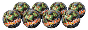 8 Pack Playball with Pump 4inch Teenage Mutant Ninja Turtles