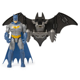 BATMAN, 4-Inch BATMAN Mega Gear Deluxe Action Figure with Transforming Armor