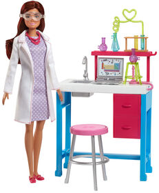 Barbie - Coffret de jeu Laboratoire scientifique.