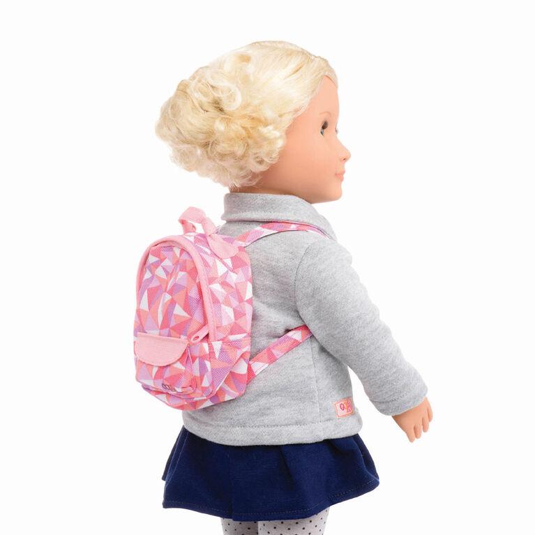 Off To School, Our Generation, Sac d'école avec accessoires pour poupées de 18po