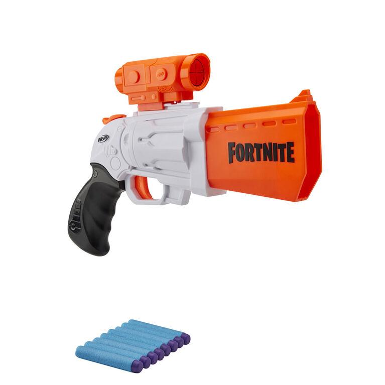 Nerf Fortnite SR Blaster -  4-Dart Hammer Action