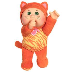 Poupée Bout d'chou Cuties de 22 cm à costume d'animal - Chaton Nina