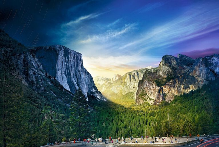 Stephen Wilkes Day to Night - Tunnel View, Yosemite National Park 1026 piece  puzzle