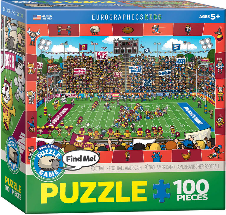 Eurographics Spot & Find Football 100 Piece Puzzle