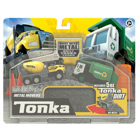 Tonka Metal Movers - Camion à ordures et mélangeur de ciment